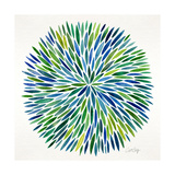 Burst in Cool Palette Giclee Print by Cat Coquillette
