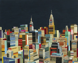 Midnight Over Manhattan Giclee Print by Andy Burgess