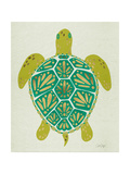 Sea Turtle in Lime Giclee Print by Cat Coquillette