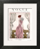 Vogue Cover - April 1923 - Pink Evening Gown Wall Art by Georges Lepape