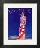 Vogue Cover - July 1926 - Flapper Nights Art Print by Eduardo Garcia Benito