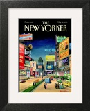Lost Times Square - The New Yorker Cover, May 31, 1999 Poster by Bruce McCall