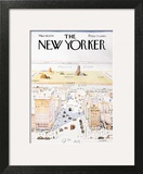 The New Yorker Cover, View of the World from 9th Avenue - March 29, 1976 Wall Art by Saul Steinberg