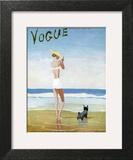 Vogue Cover - July 1937 - Beach Walk Wall Art by Eduardo Garcia Benito