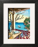 Drawing While Waiting - The New Yorker Cover, April 18, 2011 Wall Art by Jacques de Loustal