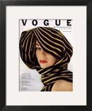 Vogue Cover - July 1951 - Wrapped in Black and Gold Art Print by Clifford Coffin