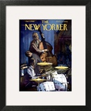 The New Yorker Cover - January 4, 1958 Wall Art by Arthur Getz