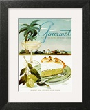 Gourmet Cover - August 1944 Art Print by Henry Stahlhut