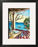 Drawing While Waiting - The New Yorker Cover, April 18, 2011 Art Print by Jacques de Loustal