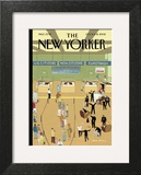 International Arrivals - The New Yorker Cover, October 14, 2002 Prints by Bruce McCall