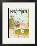 Winter Blues - The New Yorker Cover, January 30, 2012 Wall Art by George Booth