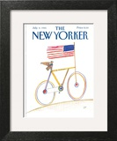 The New Yorker Cover - July 8, 1985 Art Print by Saul Steinberg