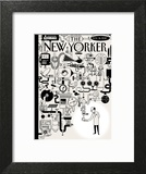 The New Yorker Cover - November 16, 2015 Art Print by Christoph Niemann