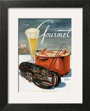 Gourmet Cover - July 1945 Wall Art by Henry Stahlhut