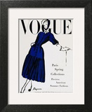 Vogue Cover - April 1947 - Black and Blue Wall Art by  Dagmar