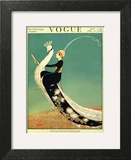 Vogue Cover - April 1918 - Peacock Parade Art Print by George Wolfe Plank