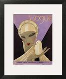 Vogue Cover - April 1927 Art Print by Eduardo Garcia Benito