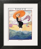Vogue Cover - July 1919 - Seaside Stroll Wall Art by Helen Dryden
