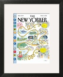 Second Avenue Line - The New Yorker Cover, March 5, 2012 Wall Art by Roz Chast