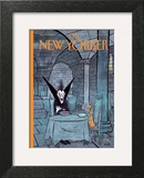 Diner a deux - The New Yorker Cover, October 31, 2011 Art Print by George Booth