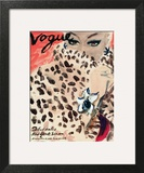 "Vogue Cover - November 1939 - Leopard Love Wall Art by Carl ""Eric"" Erickson"