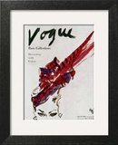 """Vogue Cover - April 1946 - Feathered Hat Wall Art by Carl """"Eric"""" Erickson"""
