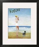 Vogue Cover - July 1937 - Beach Walk Art Print by Eduardo Garcia Benito