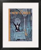 Diner a deux - The New Yorker Cover, October 31, 2011 Wall Art by George Booth