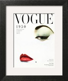 Vogue Cover - January 1950 - Doe Eye Art Print by Erwin Blumenfeld