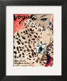 "Vogue Cover - November 1939 - Leopard Love Art Print by Carl ""Eric"" Erickson"