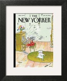 Winter Blues - The New Yorker Cover, January 30, 2012 Art Print by George Booth