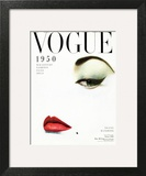 Vogue Cover - January 1950 - Doe Eye Wall Art by Erwin Blumenfeld