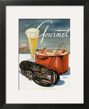 Gourmet Cover - July 1945 Art Print by Henry Stahlhut