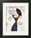 Vogue Cover - February 1933 - Umbrella Weather Poster by Georges Lepape