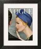 Vogue Cover - April 1959 - Talking Points Art Print by Richard Rutledge