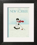 Whiteout - The New Yorker Cover, March 1, 2010 Wall Art by Brian Stauffer
