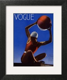 Vogue Cover - July 1932 - Red Beach Ball Art Print by Edward Steichen