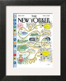 Second Avenue Line - The New Yorker Cover, March 5, 2012 Art Print by Roz Chast