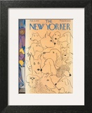 The New Yorker Cover - February 9, 1946 Art Print by James Thurber