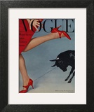 Vogue Cover - February 1958 - Running with the Bulls Wall Art by Richard Rutledge