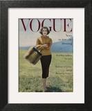 Vogue Cover - October 1956 - Fall into Fur Wall Art by Karen Radkai