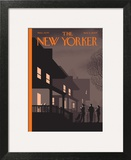 Unmasked - The New Yorker Cover, November 2, 2009 Art Print by Chris Ware