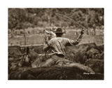 Working the Herd Prints by Barry Hart