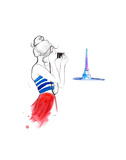 Girl About Paris Prints by Jessica Durrant