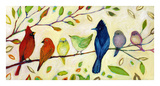 A Flock of Many Colors Wydruk giclee autor Jennifer Lommers