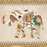 Boho Elephant II Plakaty autor Wild Apple Portfolio