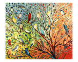 27 Birds Print by Jennifer Lommers