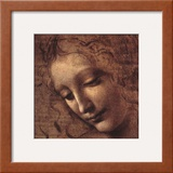 Testa di Faniciulla Detta (detail) Posters by  Leonardo da Vinci