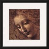 Testa di Faniciulla Detta (detail) Prints by  Leonardo da Vinci