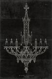 Ornamental Metal Work Chandelier Posters by  Wild Apple Portfolio